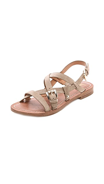 Belle by Sigerson Morrison Arson Suede Flat Sandals