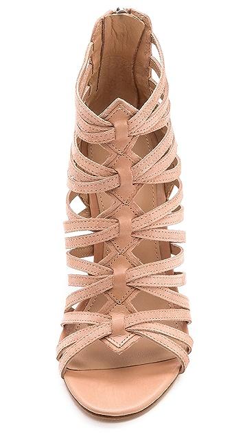 Belle by Sigerson Morrison Annie Suede Caged Sandals