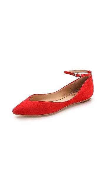 Belle by Sigerson Morrison Sable Ankle Strap Flats