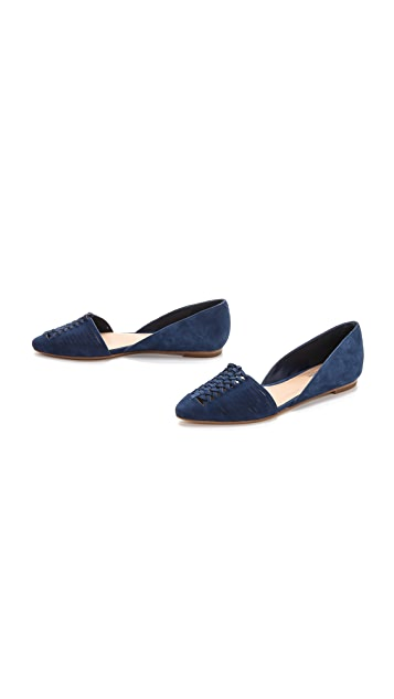 Belle by Sigerson Morrison Veda Suede Woven Flats