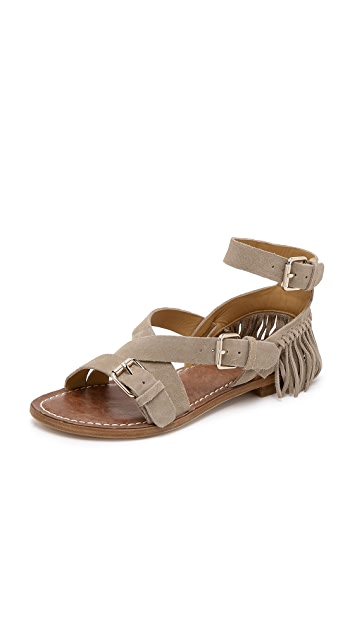 a6729149a Belle by Sigerson Morrison Allegra Fringe Suede Sandals | SHOPBOP