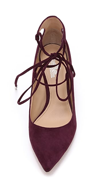 Belle by Sigerson Morrison Willy Lace Up Suede Wedges