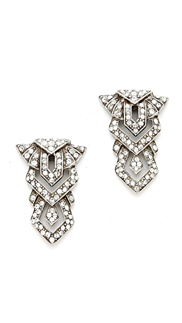 Ben-Amun Crystal Geometric Drop Earrings