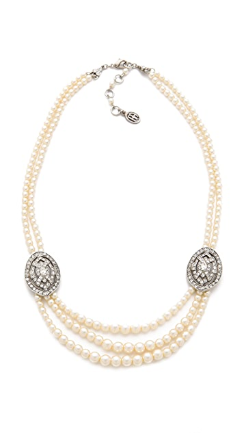 Ben-Amun Layered Crystal Necklace