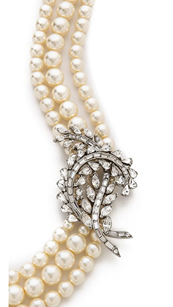 Ben-Amun Crystal Imitation Pearl Necklace