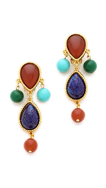 Ben-Amun Colorful Stone Earrings