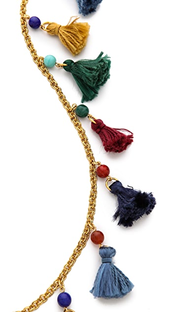 Ben-Amun Long Mini Tassel Necklace