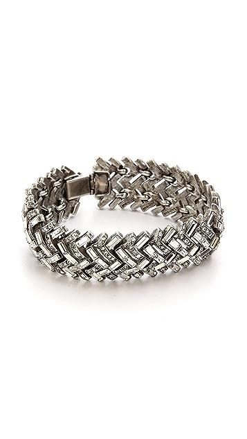 Ben-Amun Crystal Woven Bracelet