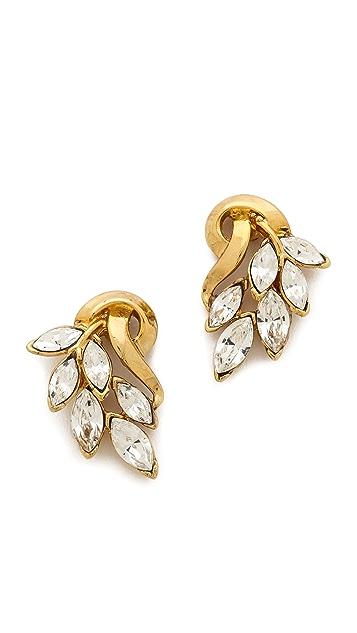 Ben-Amun Cascading Crystal Earrings