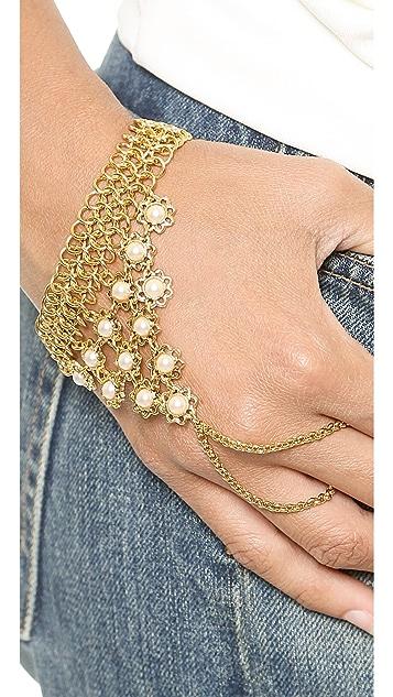 Ben-Amun Imitation Pearl Chain Hand Piece