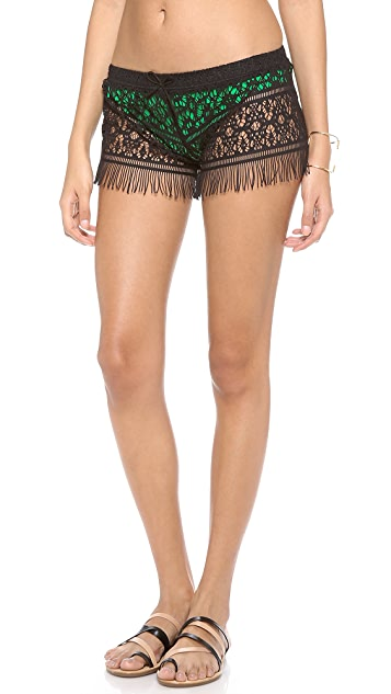 Bettinis Cali Crochet Shorts