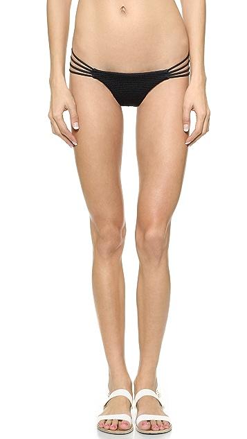 Bettinis Smocked Heart Bikini Bottoms
