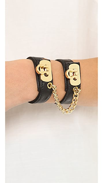 BEX nyc Leather Handcuff Bracelet