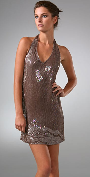 Beyond Vintage Sequin Halter Dress