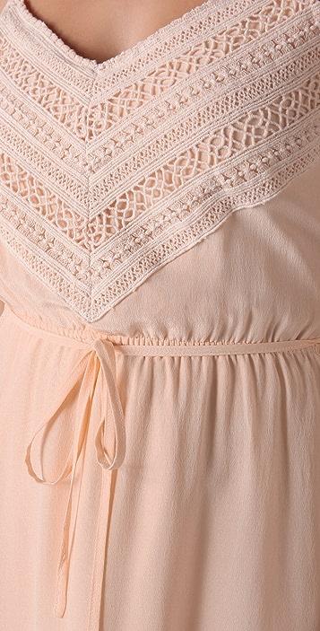 Beyond Vintage Crochet Trim Slip Dress