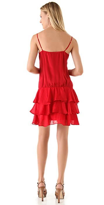 Beyond Vintage Tiered Cami Mini Dress