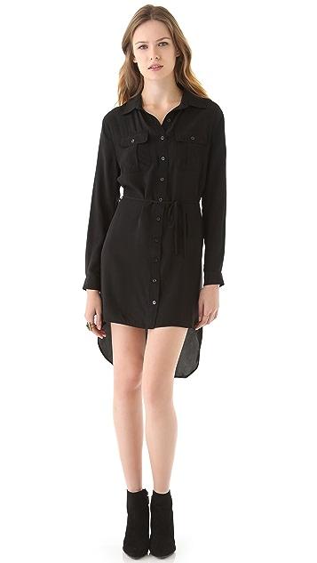 Beyond Vintage High Low Shirtdress