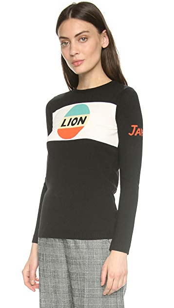 Bella Freud Lion Stripe Sweater