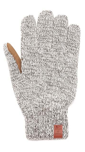 Bickley + Mitchell Faux Leather Detail Glove