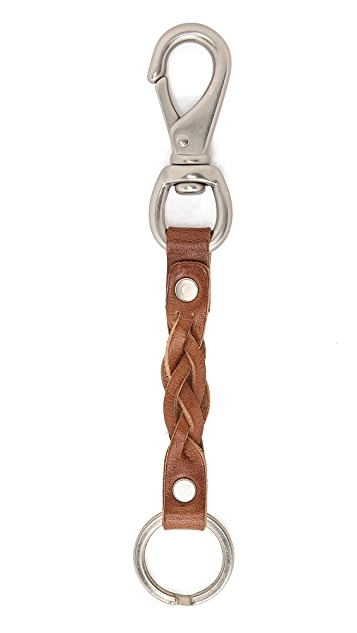 Billykirk Braided Leather Keychain