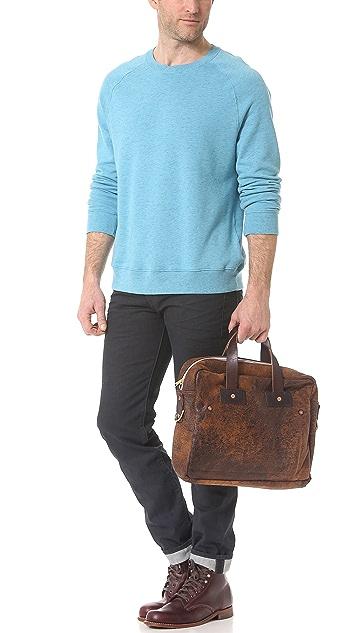Billy Reid Distressed Briefcase