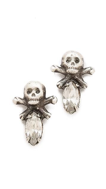 Bing Bang Memento Mori Skull Studs