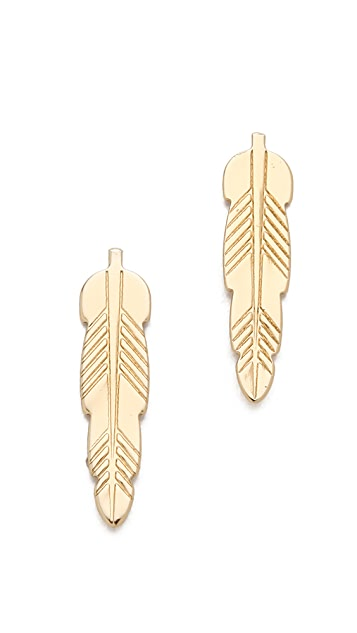 Bing Bang Kachina Feather Stud Earrings
