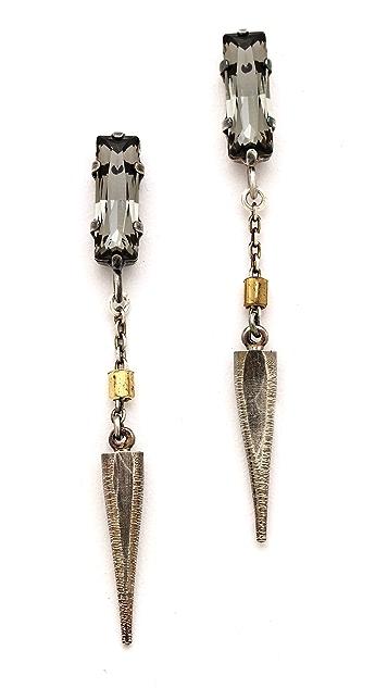 Bing Bang Baguette Crystal Spike Drop Earrings