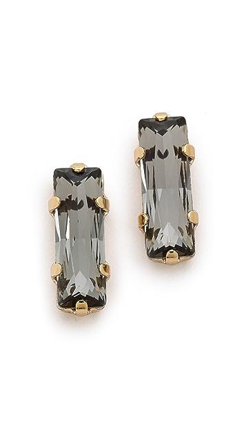 Bing Bang Oversized Baguette Stud Earrings