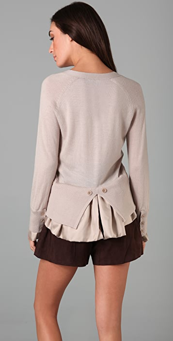 Bird by Juicy Couture Bustle Back Fine Knit Cardigan
