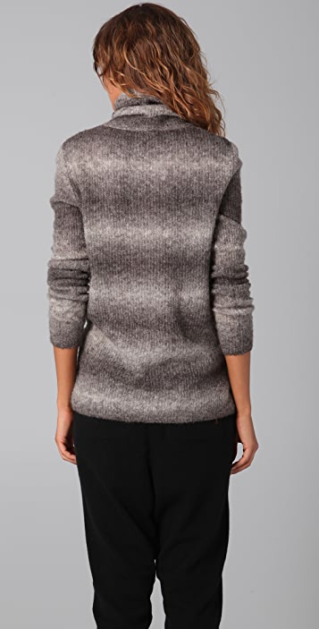 Bird by Juicy Couture Ombre Cable Turtleneck Sweater