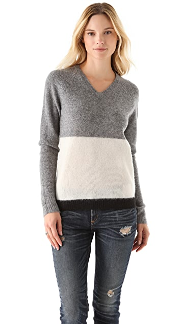 Birds of Paradis by Trovata V Neck Sweater