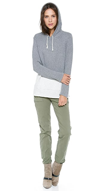 Birds of Paradis by Trovata Two Tone Hoodie