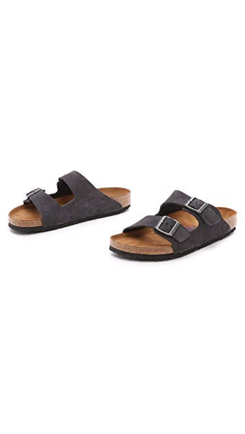 Birkenstock Suede Soft Footbed Arizona Sandals