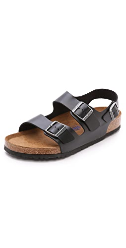 Birkenstock - Amalfi Leather Soft Footbed Milano Sandals