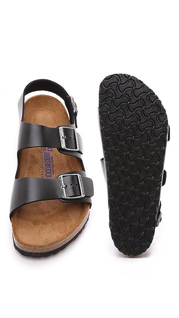 Birkenstock Amalfi Leather Soft Footbed Milano Sandals