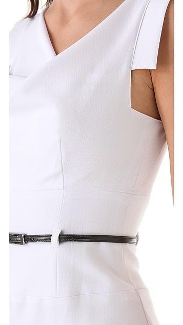 Black Halo Jackie O Belted Midi Dress