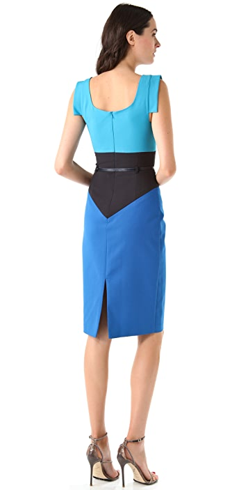 Black Halo Colorblock Dress