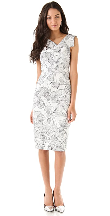 Black Halo Floral Jackie O Dress