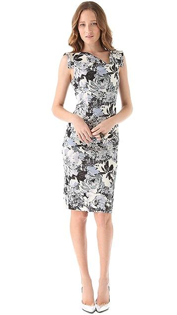 Black Halo Jackie O Printed Dress