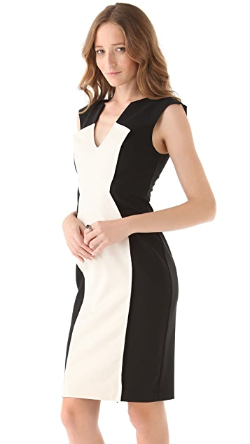 Black Halo Heston Colorblocked Dress