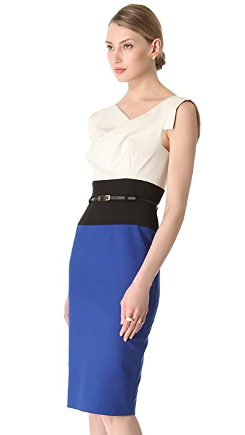 Black Halo Jackie O Tricolor Dress