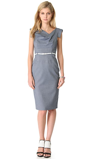 Black Halo Chambray Jackie O Dress