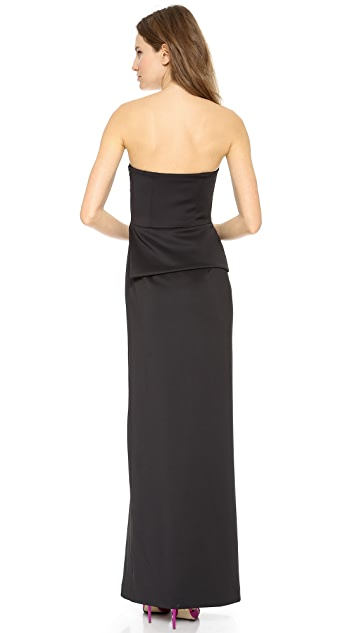 Black Halo Raquel Strapless Gown