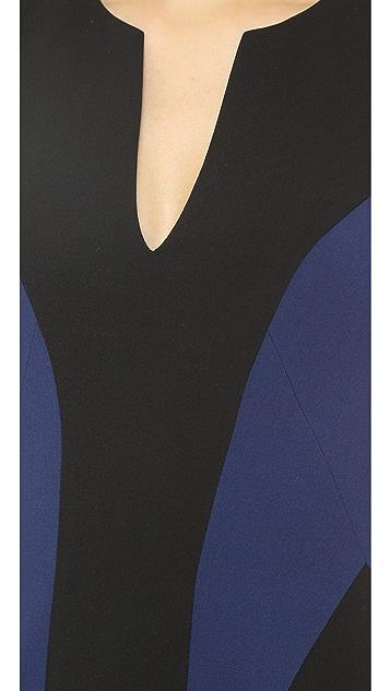 Black Halo Nova Colorblock Mini Dress