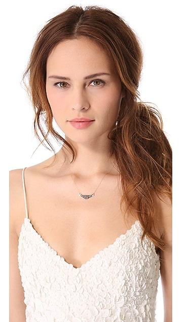 blanca monros gomez White Diamond Filigree Necklace