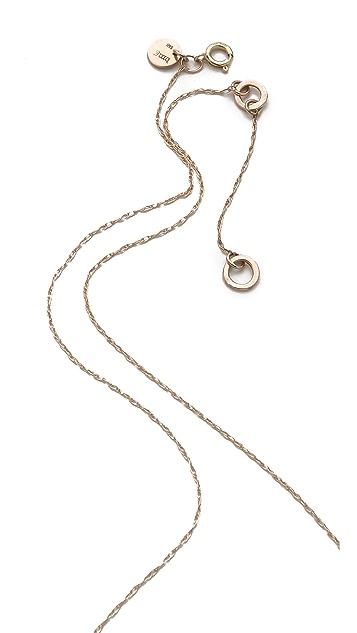 blanca monros gomez White Diamond Dainty Necklace
