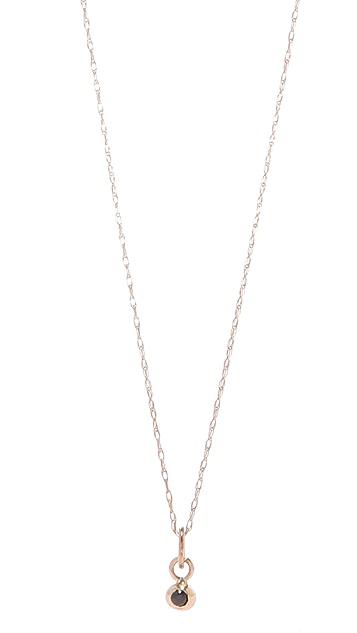 blanca monros gomez Black Diamond Seed Necklace