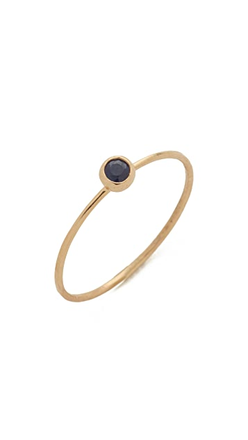 blanca monros gomez 14k Gold Sapphire Seed Ring