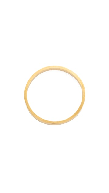 blanca monros gomez 14k Gold Flat Band Ring